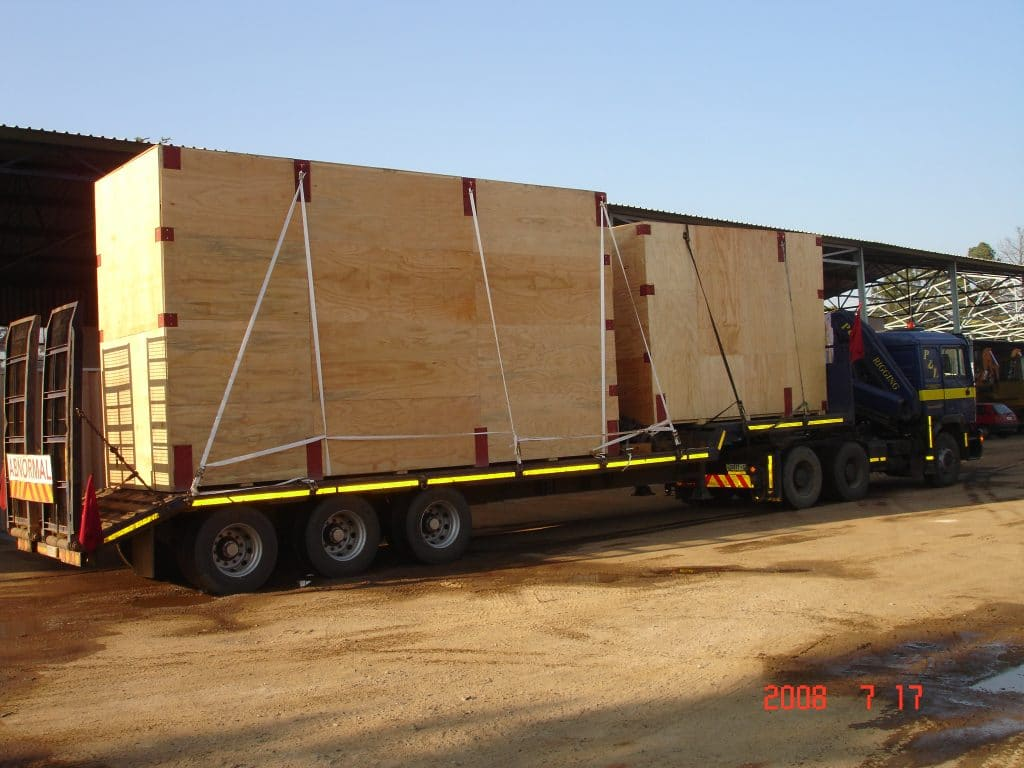 crating - p&l machine moving and rigging