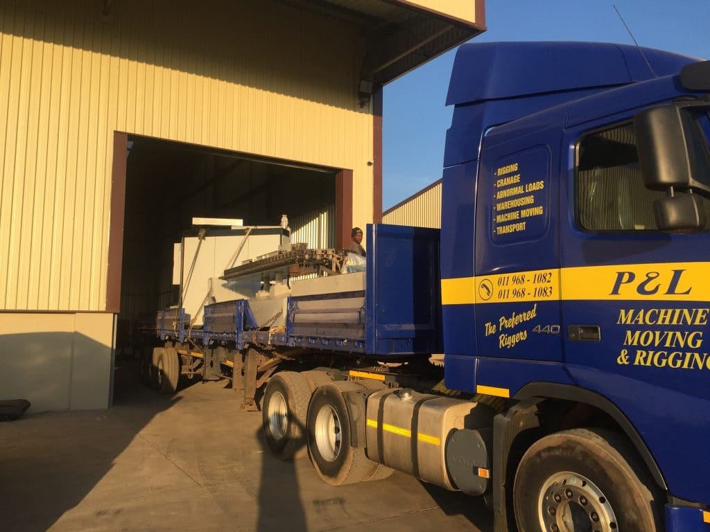 Warehousing Solutions - P&L Machine Moving and Rigging 0