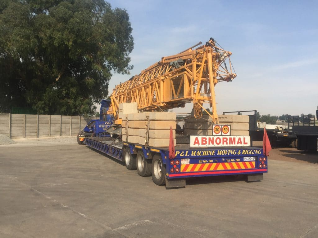 P&L Machine Moving & Rigging - Abnormal loads