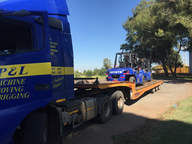 transport - p&l machine moving and rigging