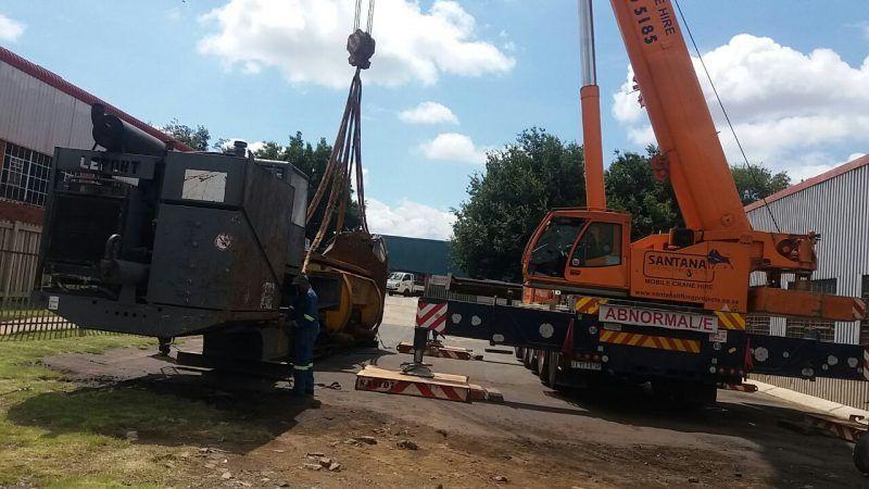 mobile cranes - p&l machine moving and rigging
