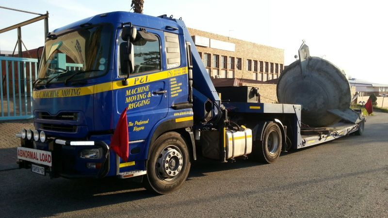 trucking tractors - p&l machine moving and rigging