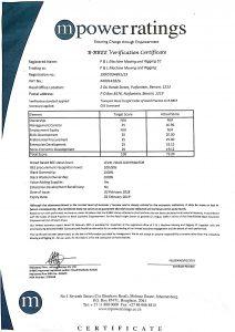 BEE Certificate - P & L